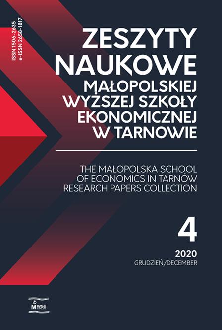 ZN MWSE w Tarnowie - okładka t. 48, nr 4, 2020